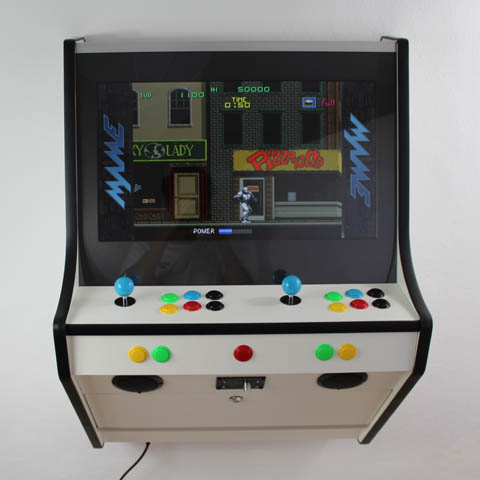 Funkycade Wall Arcade Machine White